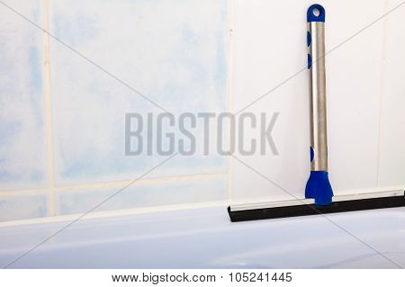 Squeegee. Window Cleaning Tool.