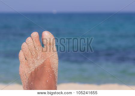 Sand And Foot