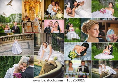 Wedding theme collage composed of different images - All photos shown in the collage are in my portfolio in high resolution