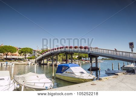 Pedestrian Bridge In Grado City Center, Italy