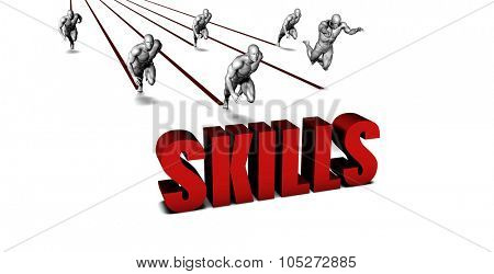 Better Skills with a Business Team Racing Concept poster