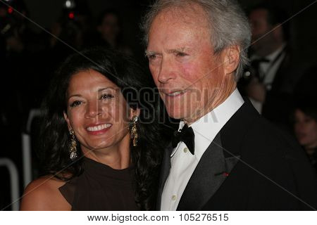 CANNES - MAY 20 : Director Clint Eastwood with his wife Dina attend the 'Changeling' premiere at the Palais des Festivals during the 61st Cannes International Film Festival on May 20, 2008 in Cannes, France