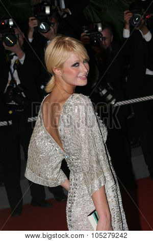 CANNES, FRANCE - MAY 22: Socialite Paris Hilton attends the 'X-Men 3: The Last Stand' premiere at the Palais des Festivals during the 59th  Cannes Film Festival May 22, 2006 in Cannes, France