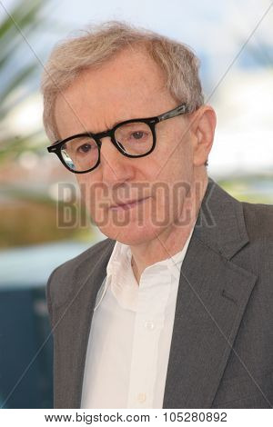 CANNES, FRANCE - MAY 12: US Director Woody Allen attends a photocall promoting the film 'Match Point' at the Palais during the 58th International Cannes Film Festival on May 12, 2005 in Cannes, France