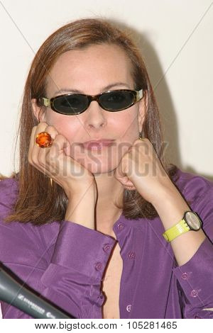 CANNES, FRANCE - MAY 16: Actress Carole Bouquet attends a photo call  the film 'Travaux, on sait quand ca commence... during the 58th International Cannes Film Festival May 16, 2005 in Cannes, France