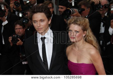 CANNES, FRANCE - MAY 16: Melanie Thierry and singer Raphael attend 'The Princess Of Montpensier' Premiere at the Palais  during the 63rd  Cannes Film Festival on May 16, 2010 in Cannes, France