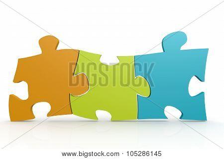 Color Puzzle Three Pieces