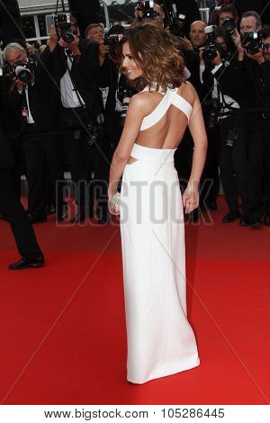 CANNES, FRANCE - MAY 21:Singer Cheryl Cole attends the 'Outside the Law' premiere at the Palais des Festivals during the 63rd  Cannes Film Festival on May 21, 2010 in Cannes, France