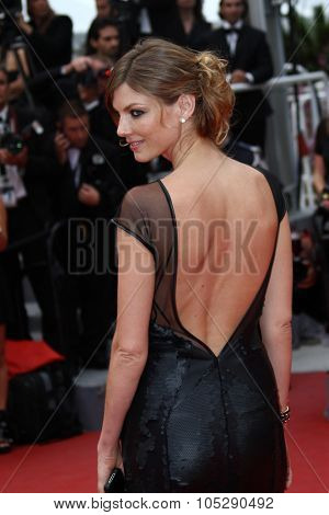 CANNES, FRANCE - MAY 22: Anglea Lindvall attends the 'Les Bien-Aimes' premiere at the Palais des Festivals during the 64th Cannes Film Festival on May 22, 2011 in Cannes, France.