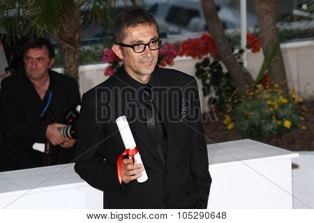 CANNES, FRANCE - MAY 22: Nuri Bilge Ceylan during the Palme D'Or Winners Photocall at the 64th Annual Cannes Film Festival at the Palais des Festivals on May 22, 2011 in Cannes, France