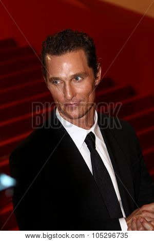 CANNES, FRANCE - MAY 24: Matthew McConaughey departs the 'The Paperboy' premiere during the 65th Annual Cannes Film Festival at Palais des Festivals on May 24, 2012 in Cannes, France.