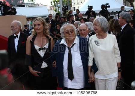 CANNES, FRANCE - MAY 24: Georges Lautner and friends attends the 'The Paperboy' premiere during the 65th Annual Cannes Film Festival at Palais des Festivals on May 24, 2012 in Cannes, France