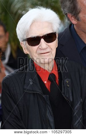 CANNES, FRANCE - MAY 21:  Alain Resnais poses at 'Vous N'avez Encore Rien Vu' Photocall during the 65th Annual Cannes Film Festival at Palais des Festivals on May 21, 2012 in Cannes, France.