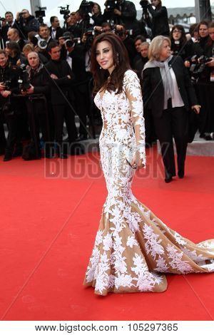 CANNES, FRANCE - MAY 21:  Najwa Karam attends the 'Vous N'avez Encore Rien Vu' premiere during the 65th  Cannes  Festival at Palais des Festivals on May 21, 2012 in Cannes, France