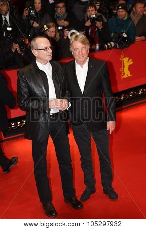 BERLIN, GERMANY - FEBRUARY 08: Rick Parfitt  and Francis Rossi attend 'Promised Land' Premiere during the 63rd Berlinalel Film Festival at Berlinale Palast on February 8, 2013 in Berlin, Germany.