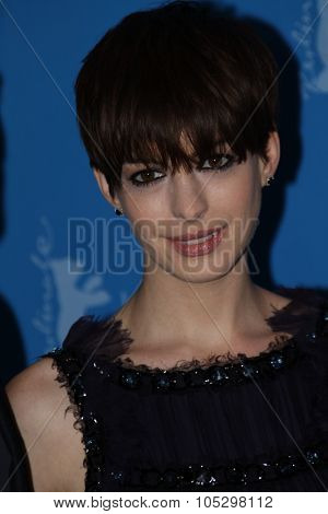 BERLIN, GERMANY - FEBRUARY 09: Anne Hathaway attends the 'Les Miserables' Photocall during the 63rd Berlinale International Film Festival at Grand Hyatt Hotel on February 9, 2013 in Berlin, Germany