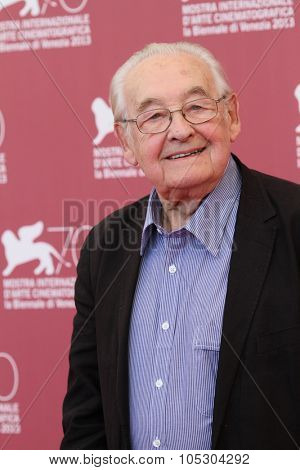 VENICE, ITALY - SEPTEMBER 05: Director Andrzej Wajda attends 'Walesa. Man of Hope' Photocall during The 70th Venice  Film Festival at the Palazzo Del Casino on September 5, 2013 in Venice, Italy
