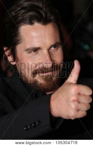 BERLIN, GERMANY - FEBRUARY 07: Christian Bale  attends the 'American Hustle' premiere during 64th Berlinale  Festival at the Friedrichstadtpalast on February 7, 2014 in Berlin, Germany
