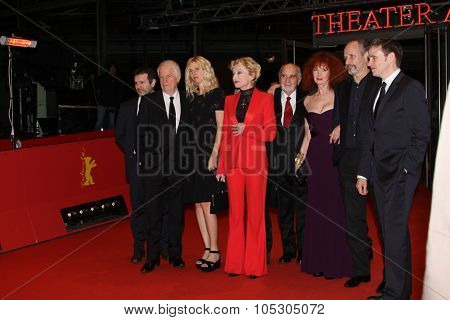 BERLIN, GERMANY - FEBRUARY 10: Sabine Azema attends the 'Life of Riley' (Aimer, boire et chanter) premiere during 64th Berlinale  Festival at Berlinale Palast on February 10, 2014 in Berlin, Germany