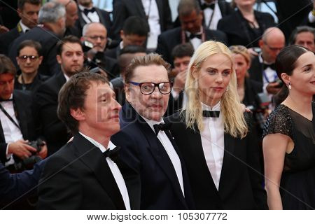 CANNES, FRANCE - MAY 17: Helmut Berger attends the 'Saint Laurent' premiere at the 67th Annual Cannes Film Festival on May 17, 2014 in Cannes, France.