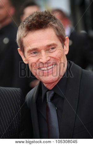 CANNES, FRANCE - MAY 25: Jury member Willem Dafoe attends the red carpet for the Palme D'Or winners at the 67th Annual Cannes Film Festival on May 25, 2014 in Cannes, France.