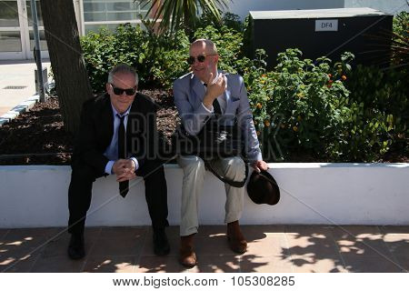 CANNES, FRANCE - MAY 23: Director/writer Jacques Audiard and Thierry Fremaux attend a photocall during the 67th Annual Cannes Film Festival on May 23, 2014 in Cannes, France.