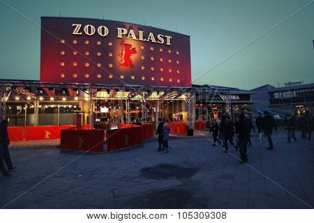 BERLIN, GERMANY - FEBRUARY 7: Zoo Palast, the main venue at the 64th Berlinale International Film Festival on February 7, 2014 in Berlin, Germany