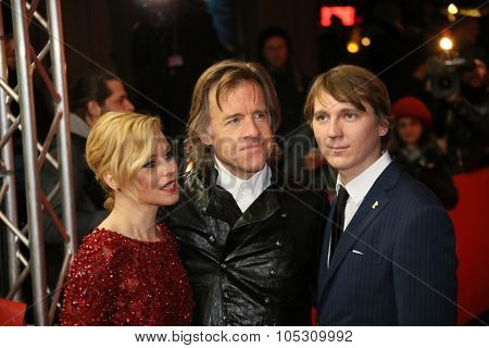 FEBRUARY 08: Elizabeth Banks, Paul Dano, Bill Pohlad attends the 'Love & Mercy' premiere during the 65th Berlinale  Film Festival at Friedrichstadt-Palast on February 8, 2015 in Berlin, Germany.