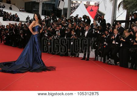 Mallika Sherawat attends the 'Macbeth' Premiere during the 68th annual Cannes Film Festival on May 23, 2015 in Cannes, France.