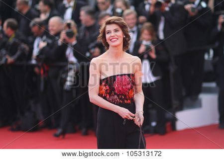 Irene Jacob attends the opening ceremony and 'La Tete Haute' premiere during the 68th annual Cannes Film Festival on May 13, 2015 in Cannes, France.