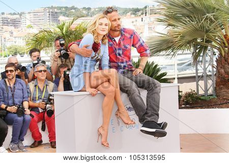 Diane Kruger, Matthias Schoenaerts attend the 'Disorder' photocall during the 68th annual Cannes Film Festival on May 16, 2015 in Cannes, France.
