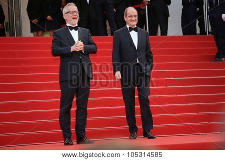 Thierry Fremont, Pierre Lescure attends the closing ceremony during the 68th annual Cannes Film  Festival on May 24, 2015 in Cannes, France.
