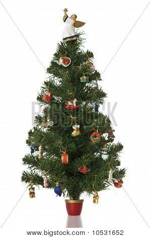 Christmas Tree On White Background.