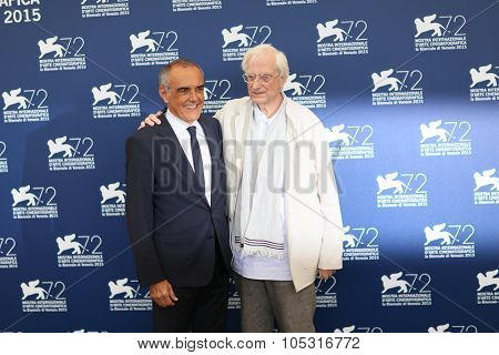 VENICE, ITALY - SEPTEMBER 08: Bertrand Tavernier during the 72th Venice Film Festival 2015 in Venice, Italy