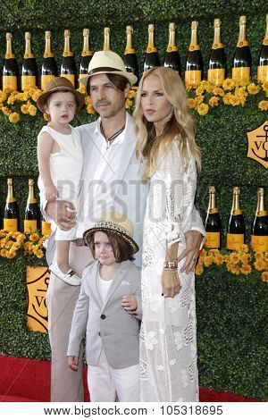 LOS ANGELES - OCT 17:  Rachel Zoe, Rodger Berman, son Skyler, son Kai at the Sixth-Annual Veuve Clicquot Polo Classic at the Will Rogers State Historic Park on October 17, 2015 in acific Palisades, CA
