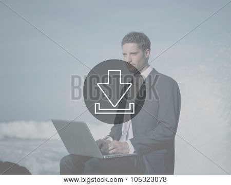 Downloading Technology Internet Connection Data Concept