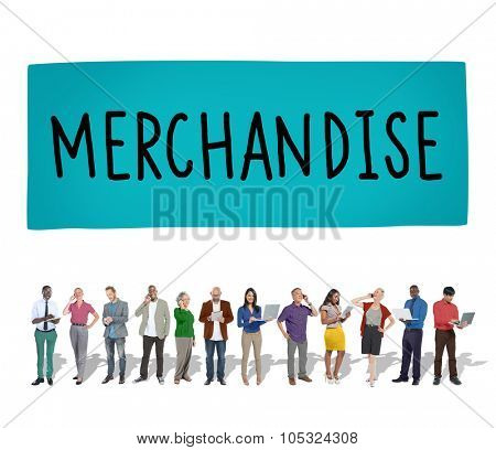 Merchandise Product Marketing Consumer Sell Concept poster