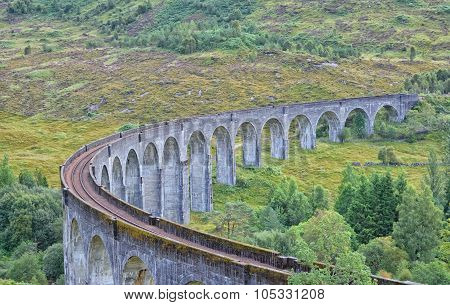 Gleanfinnan viaduct in the Highlands of Scotland