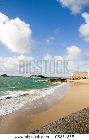 View of the city of Saint-Malo from