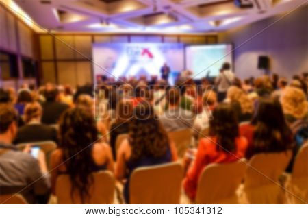 Blurred Of People In Auditorium , Blur Background