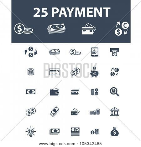 payment, finance, atm, money, banknote icons