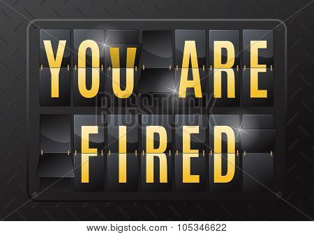 You Are Fired Steel Flip Calendar