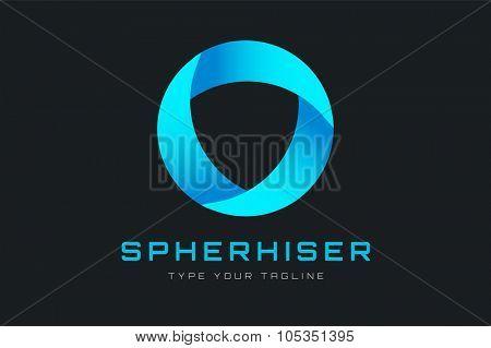 Technology orbit web rings logo. Vector circle ring logo design. Abstract circle logo template. Round ring circle and infinity loop symbol, technology icon, circle line logo. Company logo. Logo design