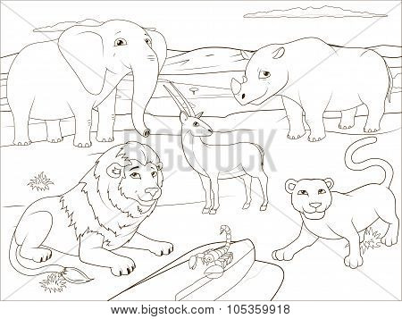 Coloring book educational game for children