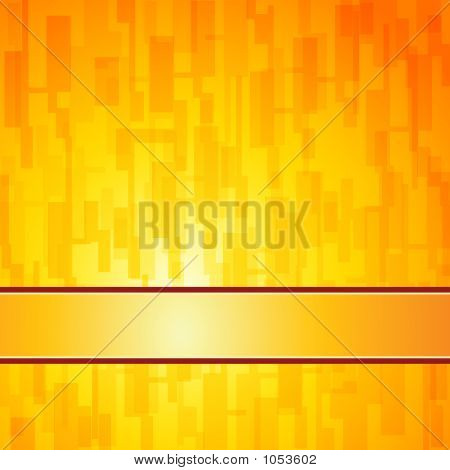 Orange Square Retro Background