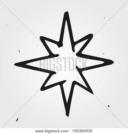 Vector Star, Hand Drawn