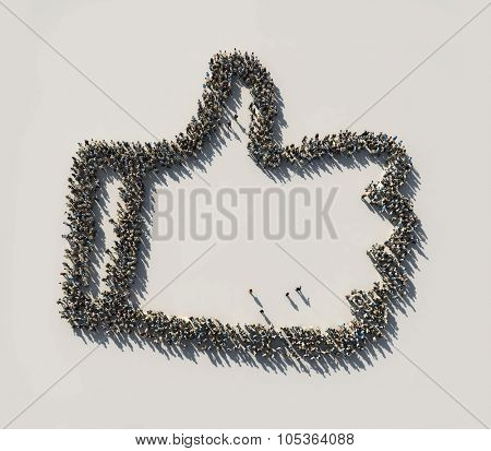 crowd as the like symbol