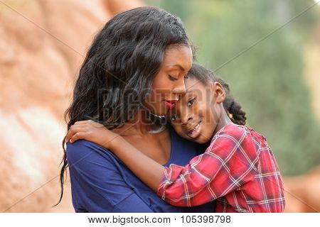 Loving Mother Comforting Child