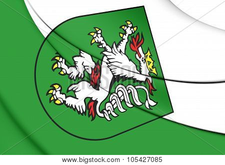 Flag Of Graz (styria), Austria.