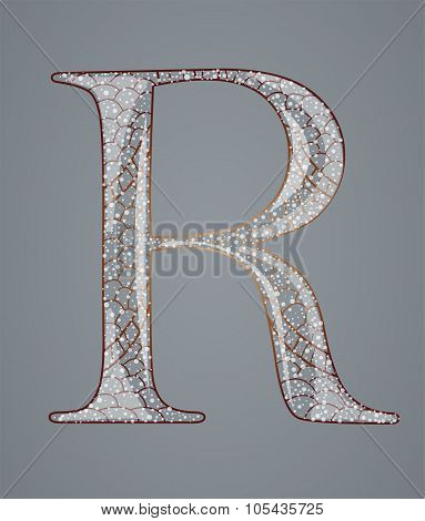 Abstract letter R.